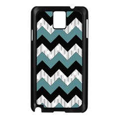 Green Black Pattern Chevron Samsung Galaxy Note 3 N9005 Case (black) by AnjaniArt