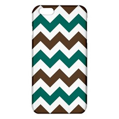 Green Chevron Iphone 6 Plus/6s Plus Tpu Case by AnjaniArt