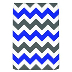 Grey And Blue Chevron Flap Covers (l)