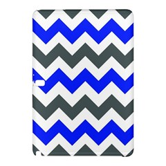 Grey And Blue Chevron Samsung Galaxy Tab Pro 10 1 Hardshell Case by AnjaniArt