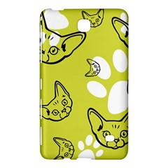 Face Cat Green Samsung Galaxy Tab 4 (7 ) Hardshell Case  by AnjaniArt
