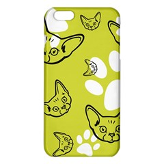 Face Cat Green Iphone 6 Plus/6s Plus Tpu Case by AnjaniArt