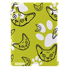 Face Cat Green Apple Ipad 3/4 Hardshell Case (compatible With Smart Cover) by AnjaniArt