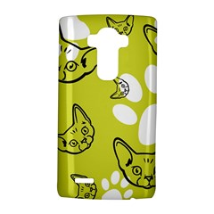 Face Cat Green Lg G4 Hardshell Case by AnjaniArt