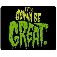 Its Gonna Be Great Double Sided Fleece Blanket (medium)  by AnjaniArt