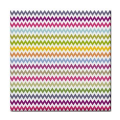 Color Full Chevron Tile Coasters by AnjaniArt