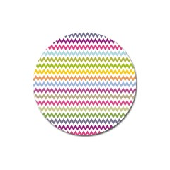 Color Full Chevron Magnet 3  (round) by AnjaniArt