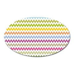 Color Full Chevron Oval Magnet by AnjaniArt