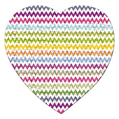 Color Full Chevron Jigsaw Puzzle (heart) by AnjaniArt