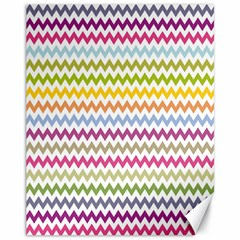 Color Full Chevron Canvas 11  X 14   by AnjaniArt