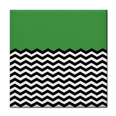 Lime Green Chevron Face Towel by AnjaniArt