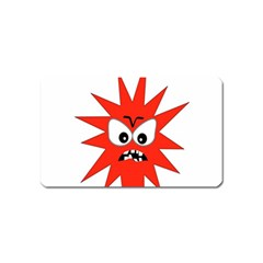 Monster Angry Magnet (Name Card) by AnjaniArt