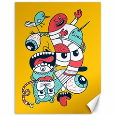 Monster Animals Canvas 12  X 16   by AnjaniArt