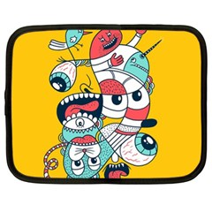 Monster Animals Netbook Case (xl)  by AnjaniArt