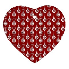 Light Red Lampion Heart Ornament (2 Sides) by AnjaniArt