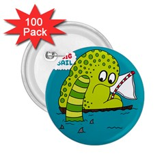 Monster Sea Too Big To Sail 2 25  Buttons (100 Pack)  by AnjaniArt