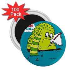 Monster Sea Too Big To Sail 2 25  Magnets (100 Pack)  by AnjaniArt