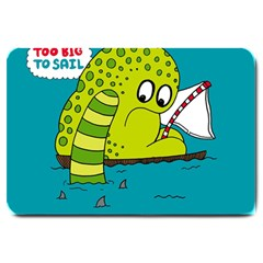 Monster Sea Too Big To Sail Large Doormat  by AnjaniArt