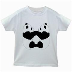 Panda Kids White T Shirts