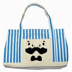 Panda Striped Blue Tote Bag