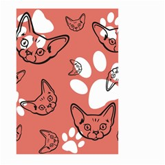 Face Cat Pink Cute Large Garden Flag (two Sides) by AnjaniArt