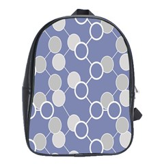 Round Blue School Bags(large)  by AnjaniArt