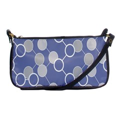 Round Blue Shoulder Clutch Bags by AnjaniArt