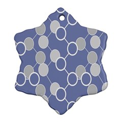 Round Blue Ornament (snowflake)  by AnjaniArt
