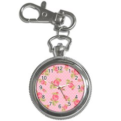 Rose Pink Key Chain Watches by AnjaniArt