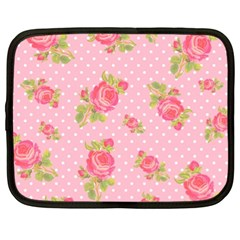 Rose Pink Netbook Case (xl)  by AnjaniArt