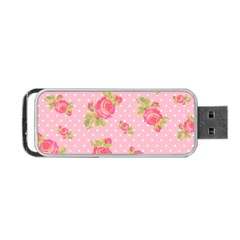 Rose Pink Portable Usb Flash (one Side)