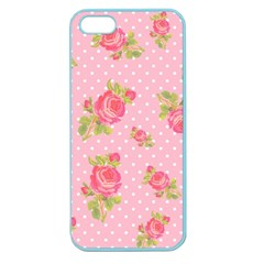 Rose Pink Apple Seamless Iphone 5 Case (color)