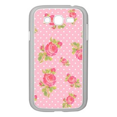 Rose Pink Samsung Galaxy Grand Duos I9082 Case (white) by AnjaniArt