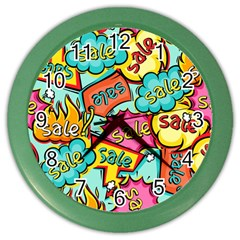 Sale Prise Disc Color Wall Clocks by AnjaniArt