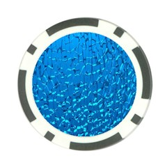 Shattered Blue Glass Poker Chip Card Guards (10 Pack)  by AnjaniArt