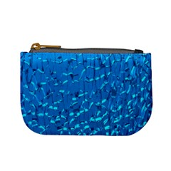 Shattered Blue Glass Mini Coin Purses by AnjaniArt