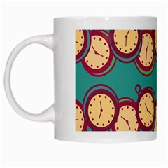 Timing Smart Time White Mugs by AnjaniArt
