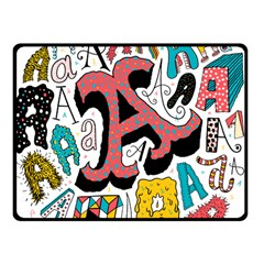 Teks As Fleece Blanket (Small) by AnjaniArt