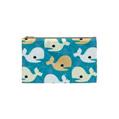 Whole Sea Animals Cosmetic Bag (small)  by AnjaniArt