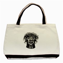 Fantasy Monster Head Drawing Basic Tote Bag (two Sides) by dflcprints