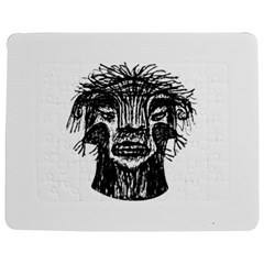 Fantasy Monster Head Drawing Jigsaw Puzzle Photo Stand (rectangular) by dflcprints