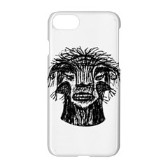 Fantasy Monster Head Drawing Apple Iphone 7 Hardshell Case by dflcprints
