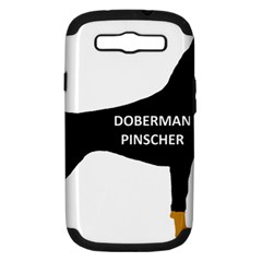 Doberman Pinscher Name Color Silo Black Samsung Galaxy S III Hardshell Case (PC+Silicone) by TailWags