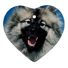 Keeshond Heart Ornament (2 Sides) by TailWags