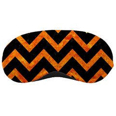 Chevron9 Black Marble & Orange Marble Sleeping Mask by trendistuff