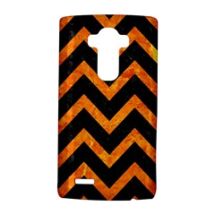 Chevron9 Black Marble & Orange Marble Lg G4 Hardshell Case by trendistuff