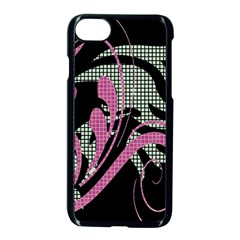 Violet Calligraphic Art Apple iPhone 7 Seamless Case (Black)