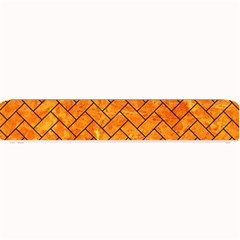 Brick2 Black Marble & Orange Marble (r) Small Bar Mat by trendistuff