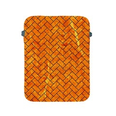 Brick2 Black Marble & Orange Marble (r) Apple Ipad 2/3/4 Protective Soft Case by trendistuff