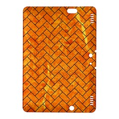 Brick2 Black Marble & Orange Marble (r) Kindle Fire Hdx 8 9  Hardshell Case by trendistuff
